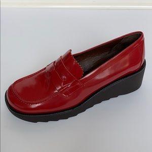 Donald J. Pliner Shoes - DONALD J PLINER Red Leather Platform Loafers